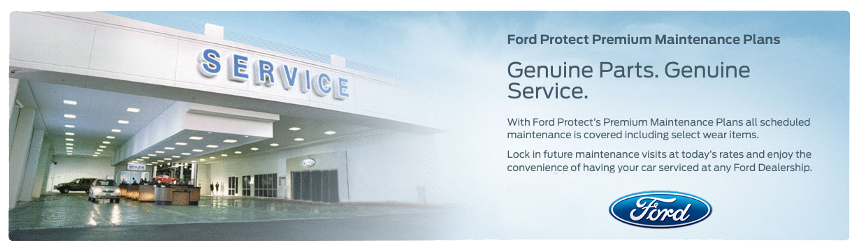 ford service center building at Sayville Ford on Long Island