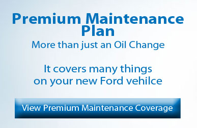 Ford premium maintenance plan banner