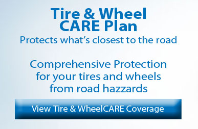 Ford tire & wheel care protection plan banner
