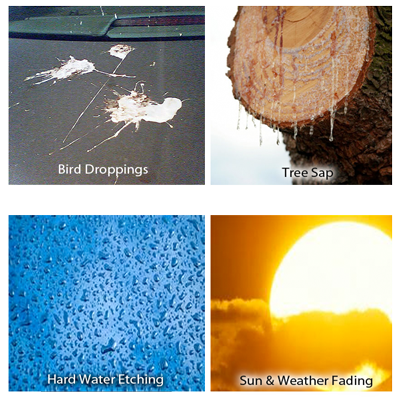 collage of various types of damage that is covered with the surface plan