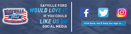 Sayville Ford of Long Island social media prilfes