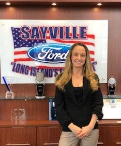Receptionist Maureen Rhodes in Staff at Sayville Ford