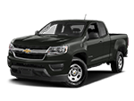 black chevy colorado pickup truck