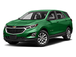 green chevy equinox suv