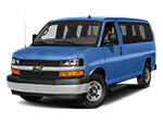 blue chevy express 3500 passenger van