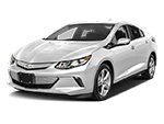 white chevy volt electric car