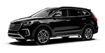 black hyundai santa fe suv out front of our Columbia dealership