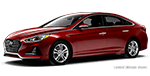 red hyundai sonata luxury sedan for sale