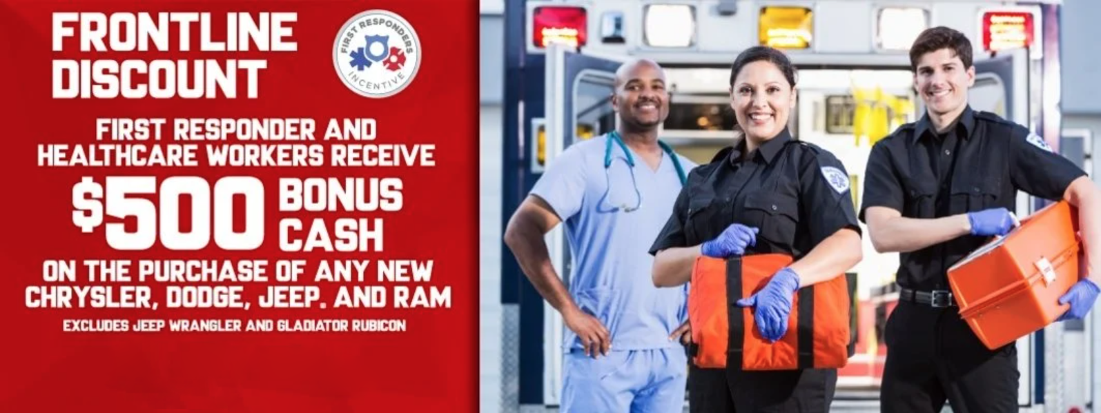 First responder discount at Eide Chrysler