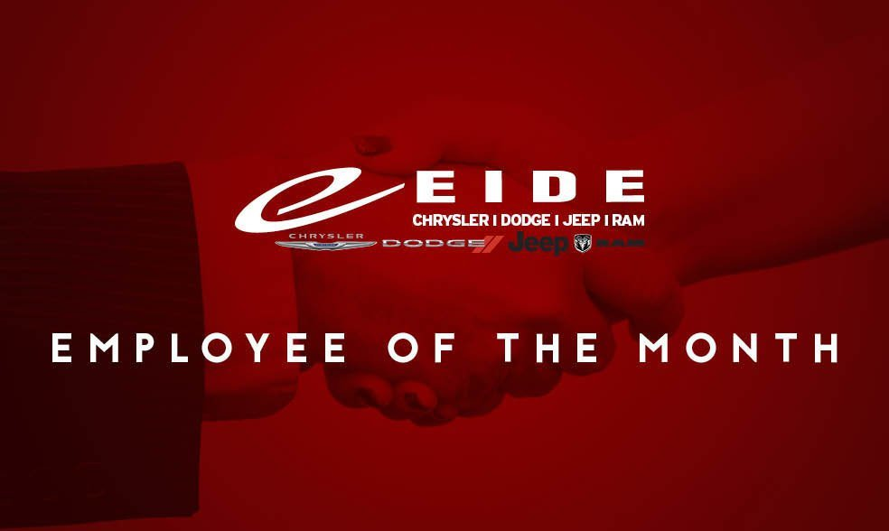 Eide Chrysler's Salesman and Employee of the Month is Reese Paulson
