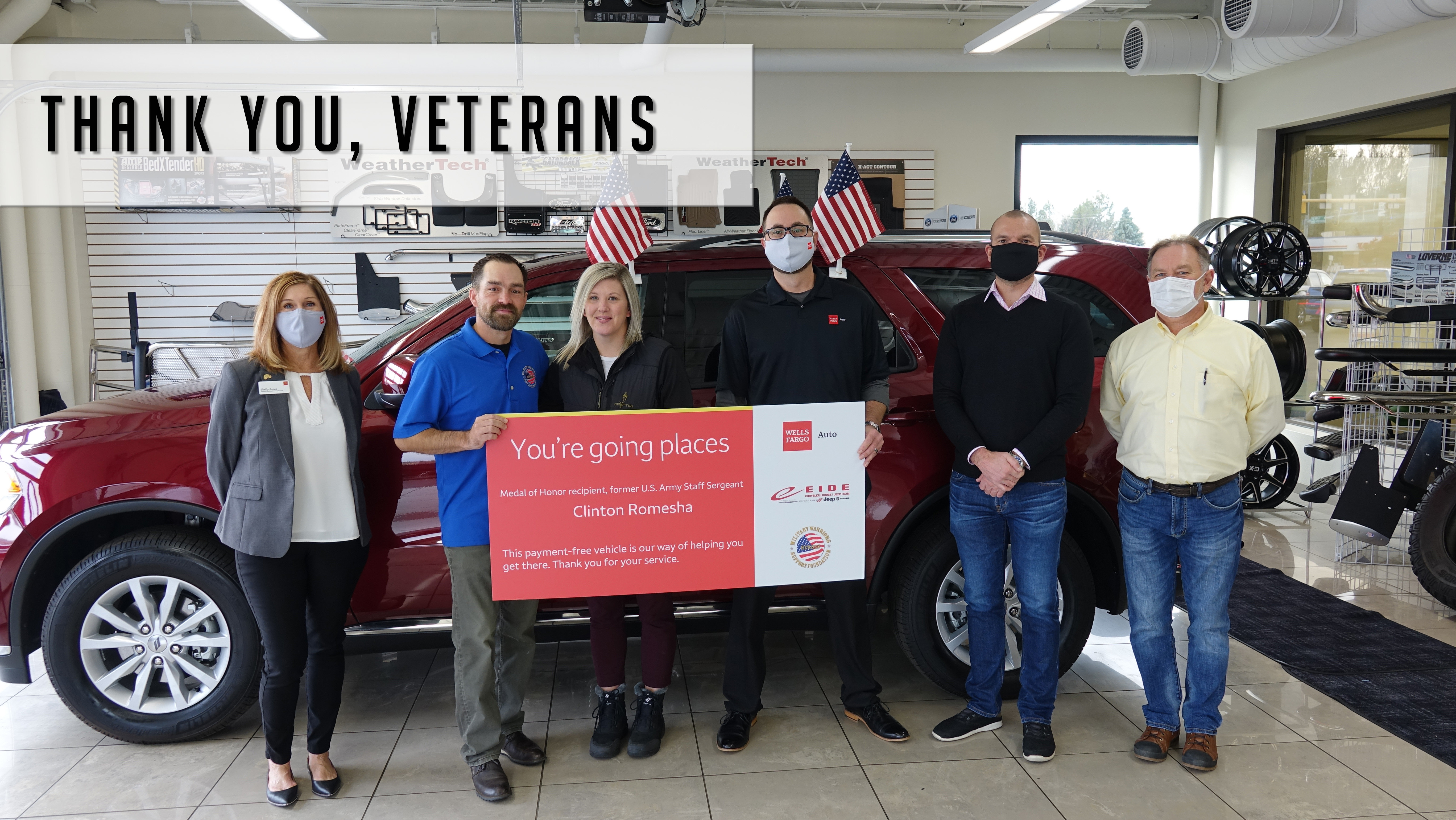 Eide Chrysler says thank you to a local veteran