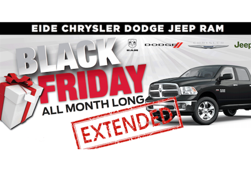 Don't Miss Our Black Friday Clearance Event Through November at Eide Chrysler!