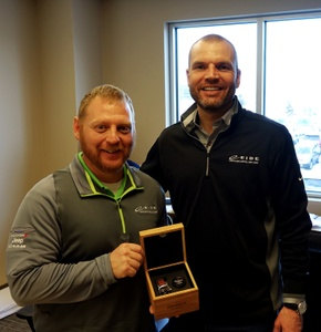 Jason Hutslar is Eide Chryslers first salesperson of the year.