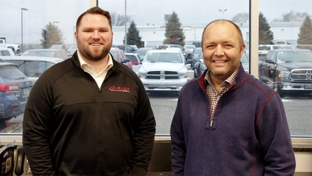 Don Pask and Aron Waxweiler at Eide Chrysler