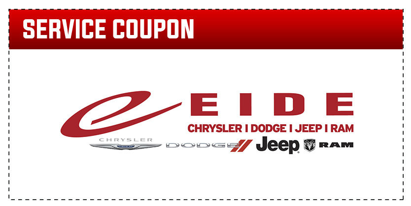 Coupon for Alignment Check Special On any Dodge, RAM, Jeep or Chrysler vehicle. Excludes cab chassis trucks.