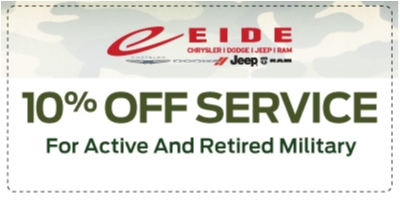 Coupon for 10% Military Discount All Active & Retired Military receive a 10% discount on parts & labor
