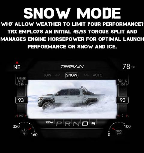 2021 RAM 1500 TRX Snow Drive Mode