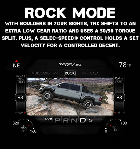 2021 RAM 1500 TRX Rock Drive Mode