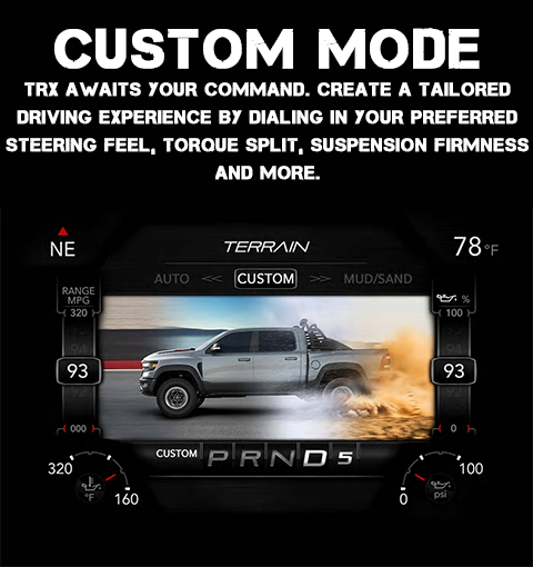 2021 RAM 1500 TRX Custom Drive Mode
