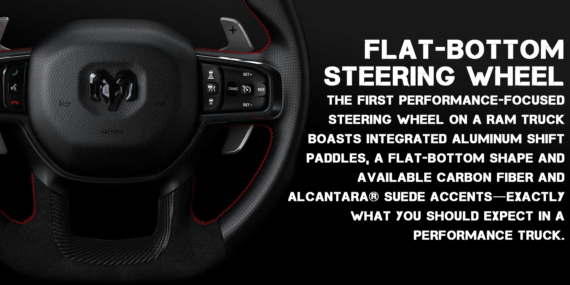 RAM 1500 TRX Flat Bottom Steering Wheel