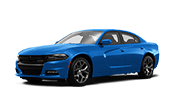 all new blue dodge charger muscle car