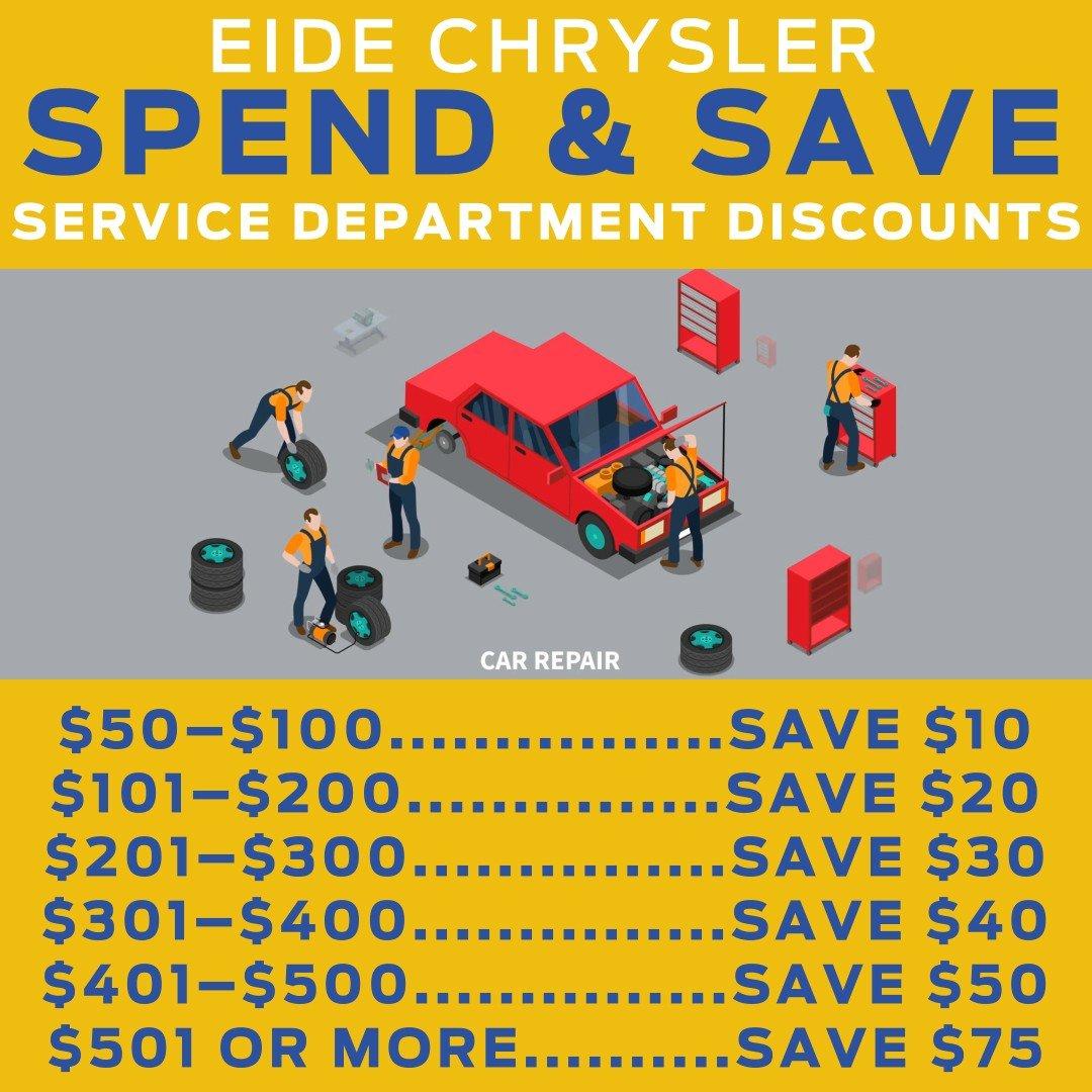 Spend & Save at Eide Chrysler