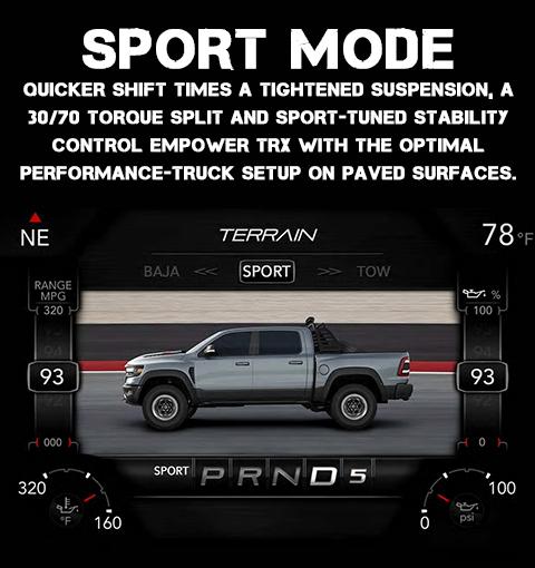 2021 RAM 1500 TRX Sport Drive Mode