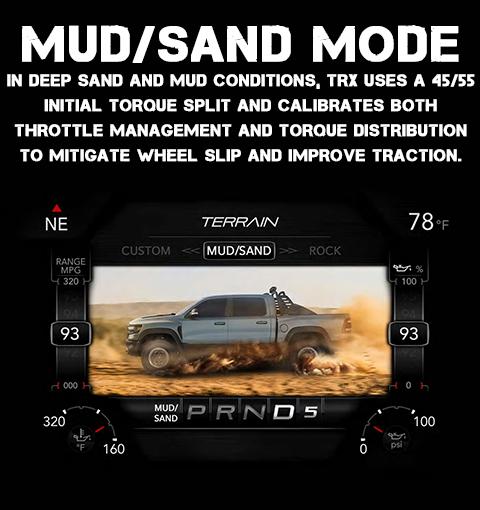 2021 RAM 1500 TRX Mud/Sand Drive Mode