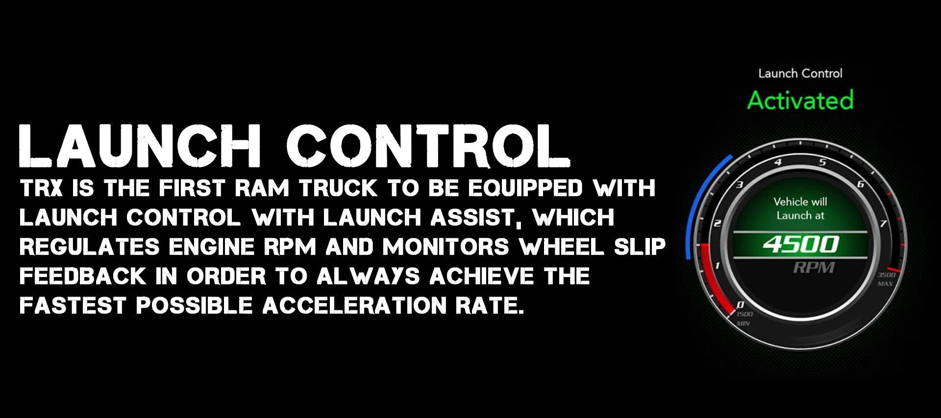 2021 RAM 1500 TRX Launch Control