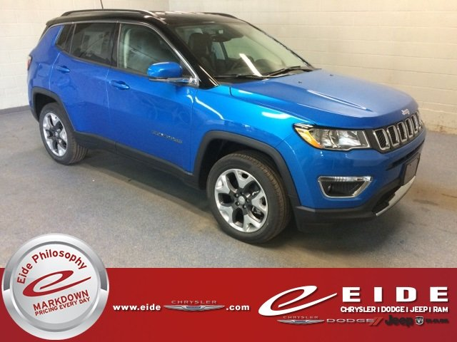 Lease this 2018, Blue, Jeep, Compass, Limited