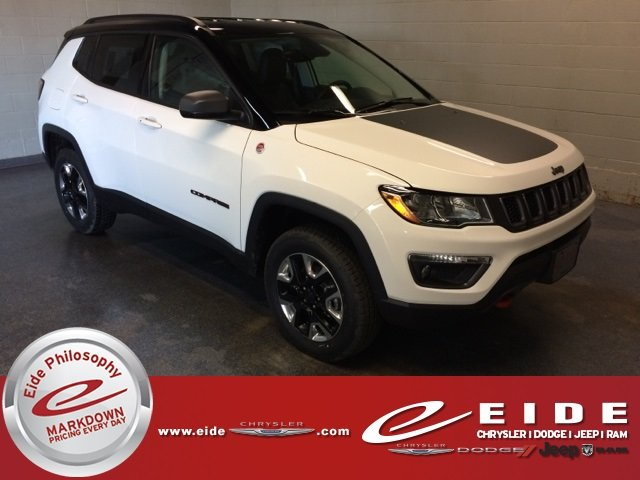 Lease this 2018, White, Jeep, Compass, Trailhawk
