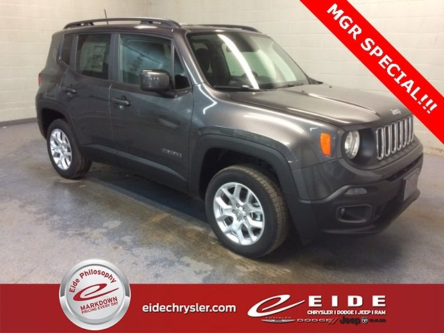 Lease this 2018, Granite Crystal Metallic Clearcoat, Jeep, Renegade, Latitude