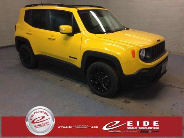 Lease this 2018, Yellow, Jeep, Renegade, Latitude