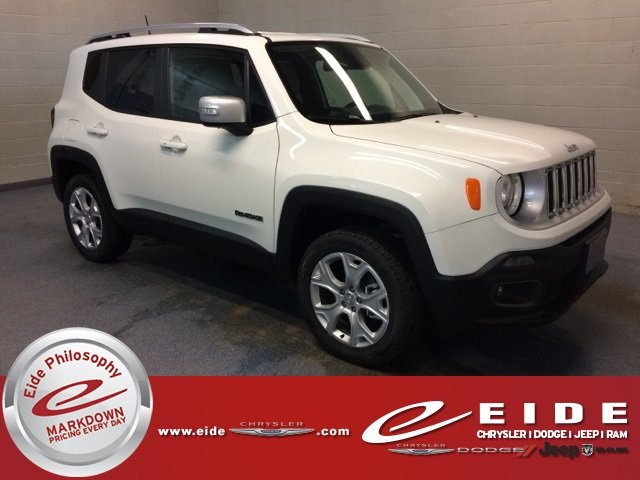 Lease this 2018, White, Jeep, Renegade, Limited