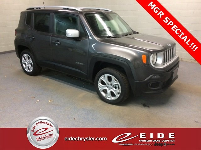 Lease this 2018, Granite Crystal Metallic Clearcoat, Jeep, Renegade, Limited