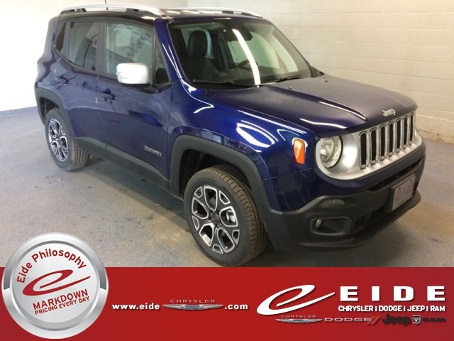 Lease this 2018, Blue, Jeep, Renegade, Limited