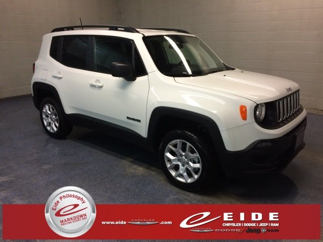 Lease this 2018, White, Jeep, Renegade, Sport