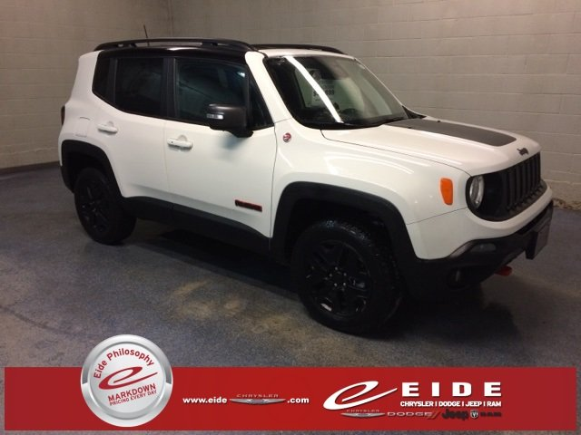 Lease this 2018, White, Jeep, Renegade, Trailhawk