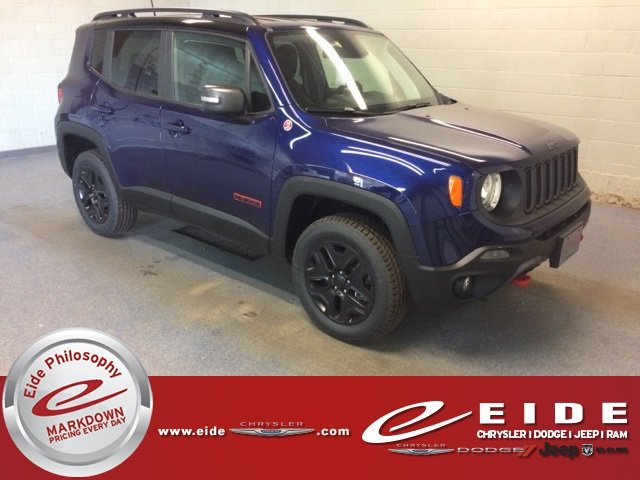 Lease this 2018, Blue, Jeep, Renegade, Trailhawk