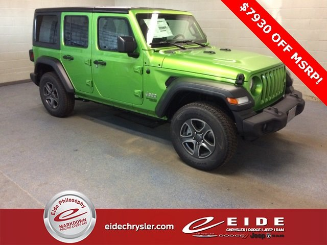 Lease this 2018, Mojito! Clearcoat, Jeep, Wrangler, Unlimited Sport S