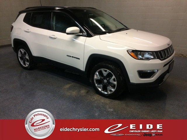 Lease this 2019, White, Jeep, Compass, Limited