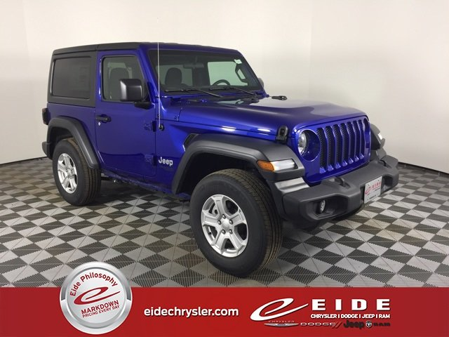 Lease this 2019, Blue, Jeep, Wrangler, Sport S
