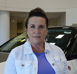 Receptionist Cindy Schumacher in Sales at Eide Chrysler