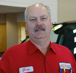 Technician Greg Painter in Service at Eide Chrysler