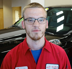 Technician James Olin in Service at Eide Chrysler