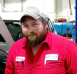 TECHNICIAN Wayne Seeman in Service at Eide Chrysler