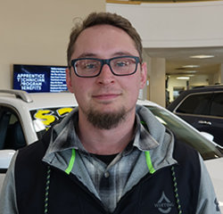 Assistant Lot Manager Mike Magstadt in Service at Eide Chrysler