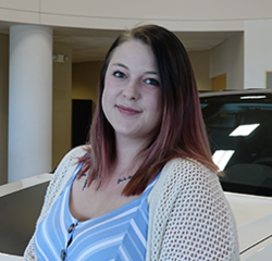 Appointment Coordinator Paige Brousseau in Service at Eide Chrysler