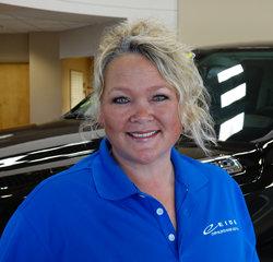Service Advisor Jackie Bius in Service at Eide Chrysler