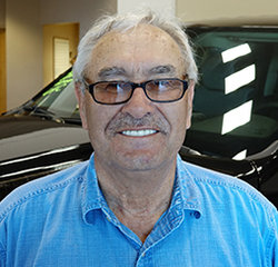 COURTESY DRIVER Gerald Hopfauf in Service at Eide Chrysler